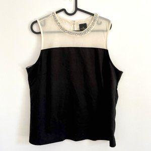 3/$25 Worthington Petite black sleeveless top